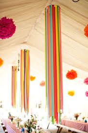 Pink And Yellow Birthday Decorations Diy Simple And Easy Paper Party Decorations