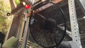 outdoor oscillating fans patio harbor breeze outdoor oscillating wall fan youtube