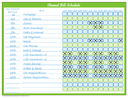 never pay a bill late again with my monthly bill pay schedule