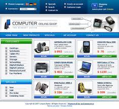 free online store shop web templates free templates online