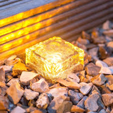 Light Up Rocks by Waterproof Solar 4led Path Ice Cube Rocks Led Frosted Glass Brick