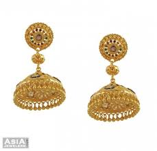beautiful gold earrings gold fancy chandelier earrings ajer53518 22kt gold fancy