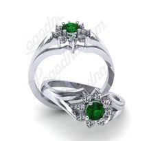 inel logodna aur alb inel logodna a21asf inel aur alb 14k cu safir si diamante