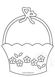 easter basket template easter template