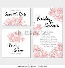 vintage flowers wedding invitation cards floral stock vector