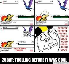 Zubat Meme - trolling before it was cool