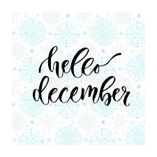 imagenes hola diciembre letras dibujadas mano del vector hola diciembre caligrafía moderna