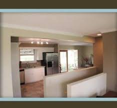 Stairs To Basement Ideas - view from living area to open staircase and kitchen dining area