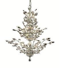 Elegant Lighting Chandelier Lighting Orchid 13 Light Dining Chandelier In Chrome With Royal