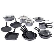 mathon cuisine batterie de cuisine complète 16 pièces avec revêtement dur comme