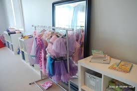 contemporary bedroom with dress up closet storage kids dress up