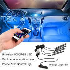 app controlled car lights icoco sale 5050rgb led car interior atmosphere decoration l
