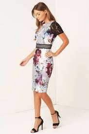 coloured dress multi coloured floral bodycon dress occasion