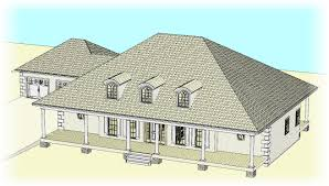 traditional custom home plan 3d view for a south carolina client