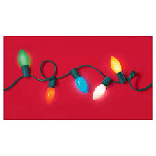 25ct incandescent c9 ceramic multicolored string lights