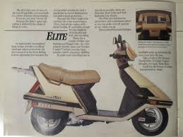honda elite 125 u0026 150 ad u0026 brochure scans motor scooter guide