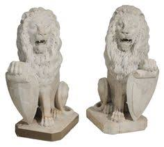 marble lions for sale berthaud 19th century a pair of painted