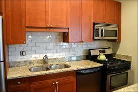 Kitchen  Kitchen Backsplash Ideas With Modern Concept Kitchen - Black glass subway tile backsplash