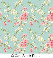 vector clip art of spring flowers background seamless floral