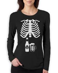 beer skeleton xray women long sleeve t shirt baby announcement dad