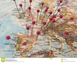 Map Pins Map Pins In Europe Stock Photo Image 83629206