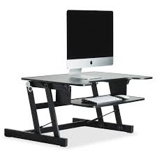 adjustable monitor stand for desk lorell adjustable desk monitor riser black walmart com