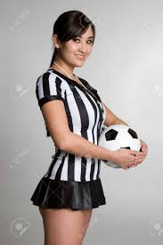 Soccer Referee Halloween Costume Asian Referee Soccer Ball Stock Photo Picture Royalty