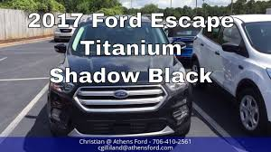 ford escape 2017 black 2017 ford escape titanium shadow black walk around u0026 look