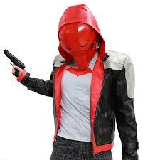 xcoser red hood mask full face helmet pvc mask for cosplay props