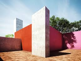 inspiration color block architecture by luis barragán