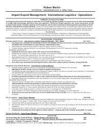 Warehouse Logistics Resume Sample Resume Resume For Logistics Manager
