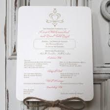 burlap wedding programs couture wedding fan programs archives citrine designs
