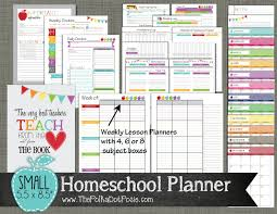 printable homeschool lesson plan template sale homeschool planner printable set sized small