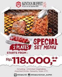 special set menu promo from kintan buffet gotomalls