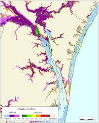 North Carolina Maps More Sea Level Rise Maps Of North Carolina
