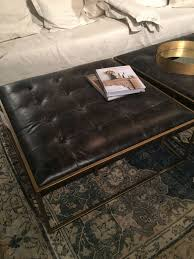 square leather coffee table furniture coffee table ottoman fresh square tufted leather coffee