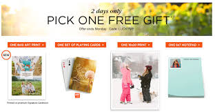 shutterfly free notepad card or large prints