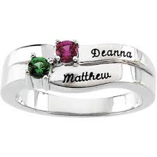 mothers ring with names engraved birthstone mothers ring in white or yellow gold