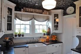 Cottage Kitchens Images - a black and white cottage kitchen