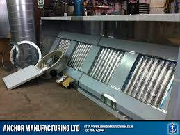 Commercial Kitchen Canopy by Kitchen Canopy Air Extraction Package Anchor Manufacturing Ltd