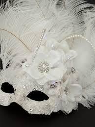 masquerade masks with feathers bridal ivory white light up masquerade mask