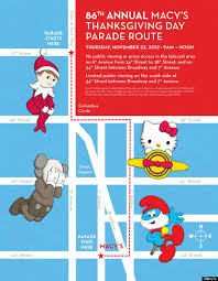 macy s thanksgiving day parade route 2012 where to in new
