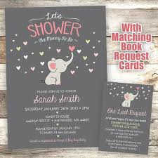 elephant baby shower invitations marialonghi