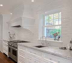 kitchen backsplash white white backsplash transitional kitchen chicago by