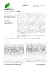 review bile acid analysis
