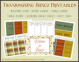 free printable thanksgiving bunco printables from the big