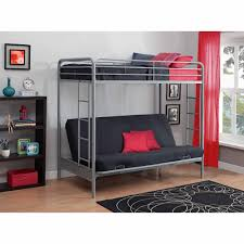 Bunk Bed With Futon On Bottom Dorel Home Products Futon Low Loft Bed With Built In