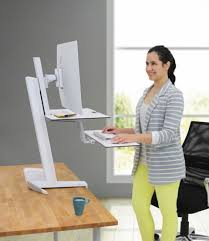 ergotron workfit s single monitor with worksurface sit stand