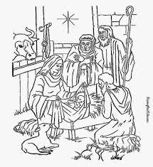 nativity coloring sheet free coloring sheet