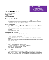 Teen Sample Resume by Teenage Resume Examples